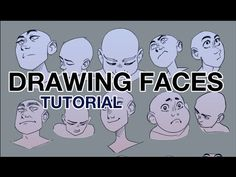 """Drawing Faces from Difficult Angles - Step by Step - Construction Techniques"" by Baba Kinkin* • Blog/Website 