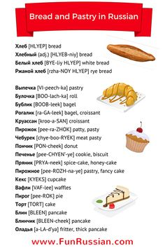 Video Lesson: Bread and Pastry in Russian by www.FunRussian.com