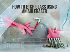 How to Etch Glass Using an Air Eraser I love etching glass. It it so fun to take something that is plain then turn it into something fabulous! I've tried etching cream and have had good resul…
