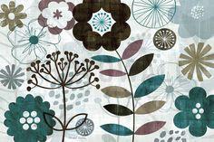 Floral Pop Turquoise - Tapetit / tapetti - Photowall
