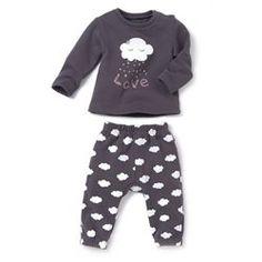 Pijama com 2 peças em moletão R baby