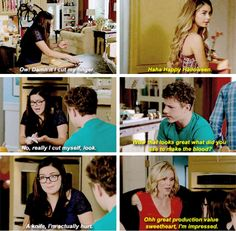 """That looks great. What did you use to make the blood?"" - Luke, Haley, Alex and Claire #ModernFamily"