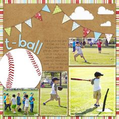 t-ball scrapbook page