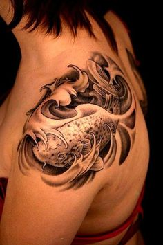 Best 3D Tattoo Deisgns  I like the waves, but I am not fond of Koi.