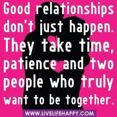 Good Relationships....