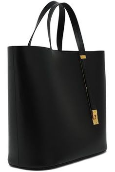 Sophie Hulme Cromwell East West Textured leather Tote Black