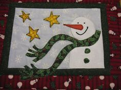 Appliqued Quilted Snowman Personal Placemat by SweetDreamsbyMoosie, $15.00