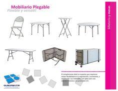 Mobiliario para hoteles - sillas y mesas plegables