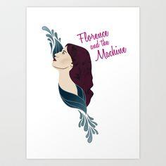 Florence and the Machine Art Print by hannahbuchanan - $15.00