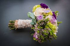 Spring Wedding Bouquet. French Chantilly Lace.