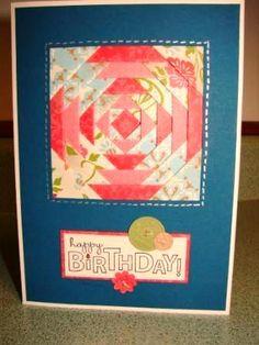 handmade quilt card deb hedstrom
