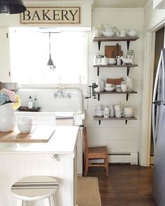 Eclectic Home Tour - love this 1918 Dutch Colonial filled with character like the original kitchen sink eclecticallyvintage.com