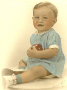 e5d69d91302 Vintage hand-colored baby   toddler portrait...precious!!!