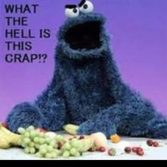 Pissed off Cookie Monster