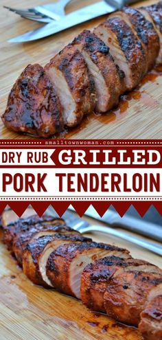 21 reviews · 30 minutes · Gluten free · Serves 4 · Thanks to helpful tips, this Dry Rub Grilled Pork Tenderloin comes out juicy and flavorful! This pork recipe is perfect for an easy grilling idea or summer bbq party idea. Pin this delicious recipe… Pork Recipes For Dinner, Summer Grilling Recipes, Grilling Tips, Summer Recipes, Easy Pork Tenderloin Recipes, Pork Dishes, Pasta, Main Dishes, Cooking Recipes
