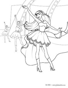 Keira And Tori Transformation Coloring Page More Barbie The Princess Popstar Pages On Hellokids
