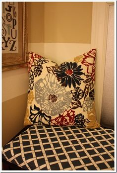 Pillow and Bench Cushion Tutorial