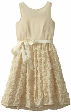 Amazon.com: Blush by Us Angels Girls 7-16 Lace Detail Crinkle Dress: Clothing