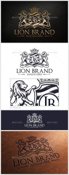 Lion Brand Logo - EPS Template • Only available here! ➝ https://graphicriver.net/item/lion-brand-logo-template/10280688?ref=pxcr