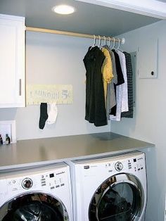 12 GENIUS Laundry Hacks You Have to See Get excellent recommendations on laundry room storage diy. They are on call for you on our website. Laundry Room Countertop, Laundry Room Doors, Laundry Room Layouts, Laundry Room Remodel, Laundry Room Organization, Laundry Room Design, Laundry Chute, Garage Laundry, Laundry Drying