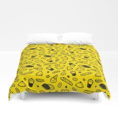 Sweet Sicily dream yellow Duvet Cover