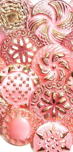 Pink & Gold Buttons