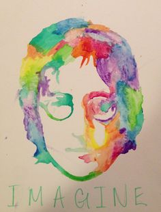 John Lennon Original Watercolor