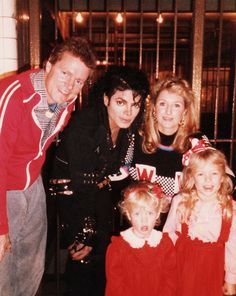 With lil Paris and Nicky Hilton. Their mom Kathy, went to school with the Jacksons and stayed in touch with Michael through out the years.