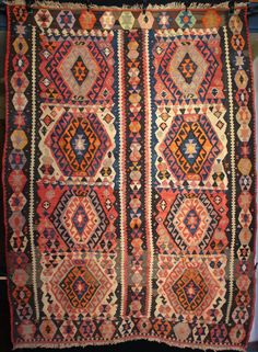 East Anatolian Kagizman kilim from south of Kars near the border between Turkey and Armenia.
