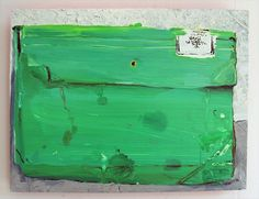 "Saatchi Online Artist: Hilary Doyle; Oil, Painting ""Green Folder"""