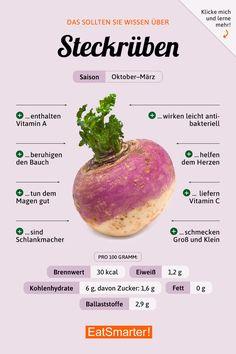 Das solltest du über Steckrüben wissen | eatsmarter.de #ernährung #infografik #steckrüben