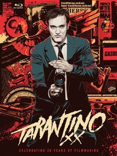 QUENTIN TARANTINO - Reservoir Dogs (1992), True Romance (1993 writer), Pulp Fiction (1994), Natural Born Killers-writer (1994), Four Rooms (1995), From Dusk Til Dawn-writer (1996), Jackie Brown (1997), Kill Bill Volume 1 (2003), Kill Bill Volume 2 (2004), Sin City-guest director (2005), Grindhouse (2007), Inglourious Basterds (2009), Django Unchained (2012)