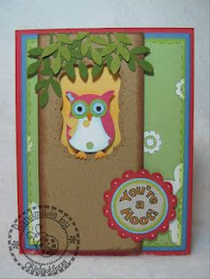 Owl in a tree stampin up punch, punch owl, owl punch cards, tree, owl card, random stuff, owls