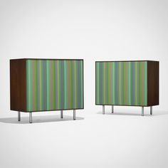 GeorgeNelson Associates Thin Edge Speakers with AlexanderGirard cloth grilles 1952 AmericanDesign.11.16 via wrightauction- speakers, vintage, design