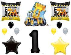 1st BIRTHDAY CONSTRUCTION Balloons Decoration Supplies Party Boy Dump Truck Bulldozer First - https://www.partysuppliesanddecorations.com/1st-birthday-construction-balloons-decoration-supplies-party-boy-dump-truck-bulldozer-first.html