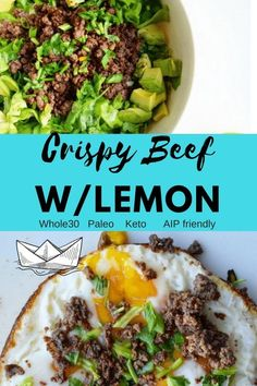 last ground beef recipe you will ver make. Versatile, delicious, crispy and full of flavor! Roasted lemon is game changer!The last ground beef recipe you will ver make. Versatile, delicious, crispy and full of flavor! Roasted lemon is game changer! Dairy Free Keto Recipes, Egg Free Recipes, Lamb Recipes, Primal Recipes, Ketogenic Recipes, Meat Recipes, Ketogenic Diet, Gluten Free, Paleo Whole 30