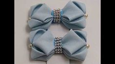 DIY Pares Moños Faciles/Moños jovencitas/How To Make A Hair Bow FloresyMoños Faciles - YouTube