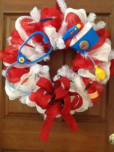 Nurses+Wreath+Medical+Professional+Wreath+by+Cindyswreathsand,+$65.00