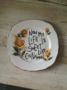 It's an Etsy Christmas: Vintage plate with Lana Del Ray quote