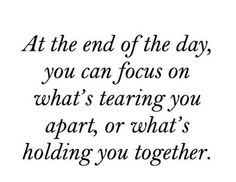 where is your focus??