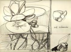 Ignacio Klindworth. Boceto para la serie Emergentes orgánicos. Lápiz sobre papel. 21x30cm. Madrid 2006. www.ignacioklindworth.es