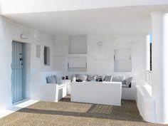 The Windmill Hotel is a stunning getaway located on Kimolos, an island in the Aegean Sea, in Greece. The Windmill Hotel, on the tiny volcanic island of Kim