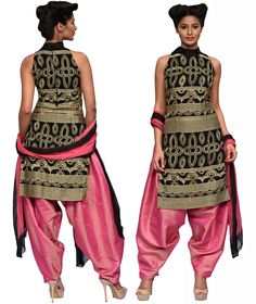 Black And Pink Salwar Kameez  Designer : The Dresser By Suraj Varsha