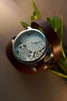 Leather Watch (Lady Steampuck Style). $62.00, via Etsy.
