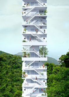 Bee Breeders Announce Winners of Hong Kong Pixel Homes Competition,Second Prize: Exterior Perspective. Image Courtesy of Bee Breeders