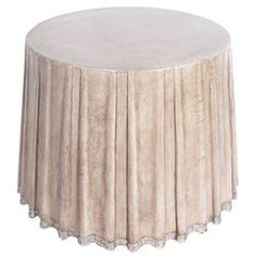 Elegant Leather Draped Center Table by Marge Carson