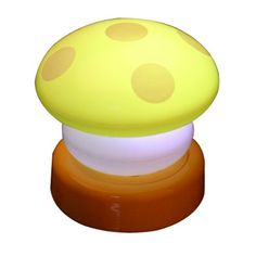 BoatShop LED Colorful Mushroom Press Down Touch Lamp Night Light, Yellow * Click image for more details-affiliate link. #NurseryNightLights