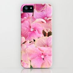 Pink Hydrangeas iPhone & iPod Case by Lisa Argyropoulos - $35.00
