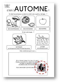 L'automne dans le cahier de vie - Les docs d'Estelle French Immersion, Busy Bags, Journal Prompts, Early Learning, School Days, Kindergarten, Preschool, Notebook, Bullet Journal