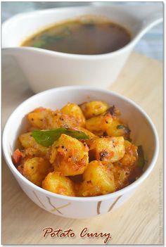 Paruppu Rasam and Potato curry Recipe